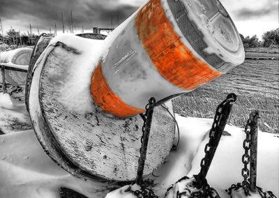 Marker Buoy in Winter
