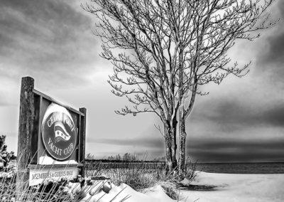 Winter Storm at the Marina